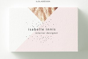 Geometric Rose Gold  Business Card