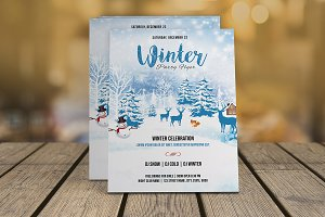 Winter Party Flyer Template-V01