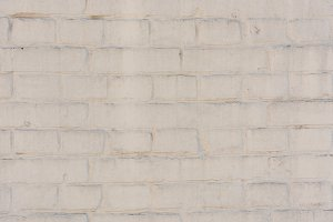 empty white brick wall textured back