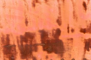old brown rusty weathered metal back