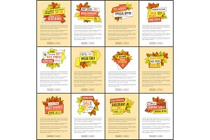 Set of Advertisement Posters with