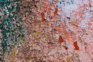 close-up view of old weathered wall