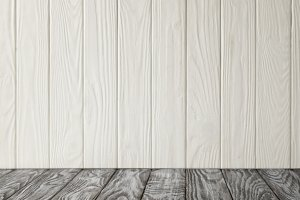 grey wooden tabletop and white woode