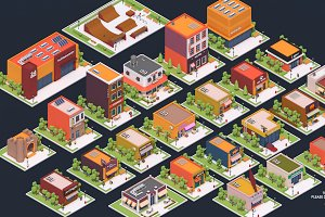 Low Poly City Buildings Pack 2