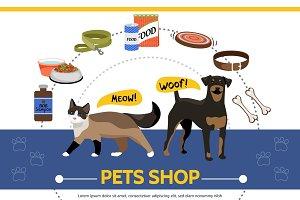 Pet shop round concept