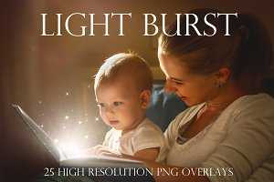 Light burst overlays