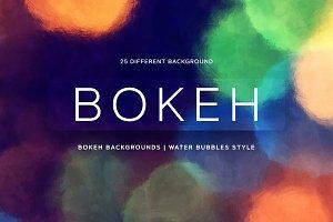 Bokeh | Water Bubbles style