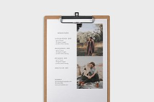 Photography Pricing Template