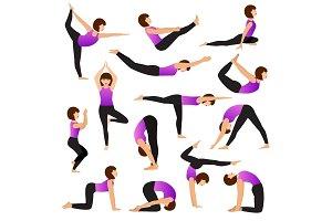 Yoga woman vector young women yogi