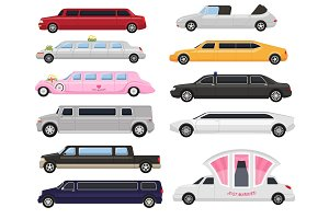 Limousine vector limo luxury car and