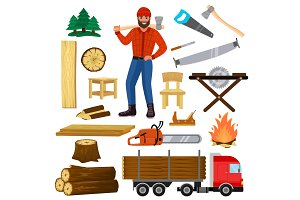 Timber vector lumberman character