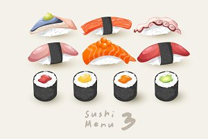 Big Set of Sushi Rolls 03