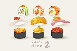Big Set of Sushi Rolls 2
