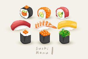 Big Set of Sushi Rolls 1