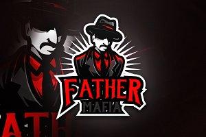 Father Mafia - Mascot & Esport Logo