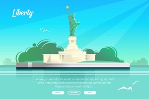 Liberty - Vector Landscape &Building