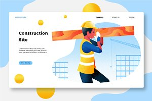 Construction - Banner & Landing Page