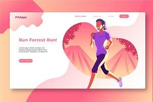 Jogging - Banner & Landing Page