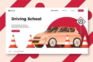 Driving School - Banner & Landing