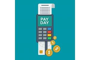Tax day concept. Terminal.