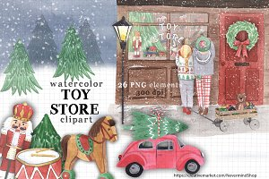 Christmas Toy Store clipart