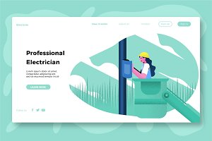 Electricity - Banner & Landing Page