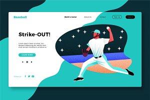 Baseball - Banner & Landing Page