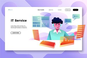 IT Services - Banner & Landing Page