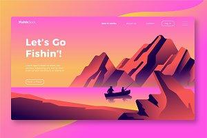 Fishing - Banner & Landing Page