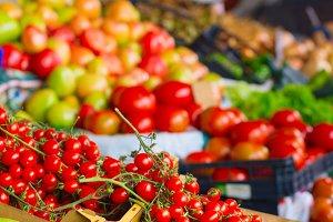 Cherry tomatoes vegetable market