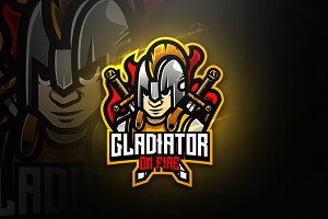 Gladiator on fire - Mascot & Esport