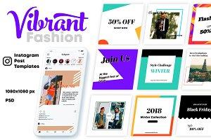 Vibrant Fashion-Instagram Templates