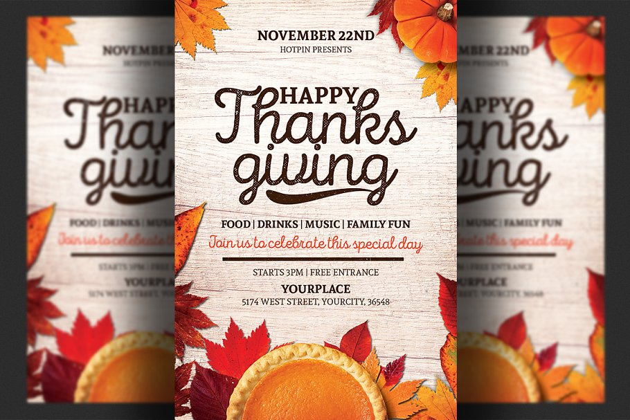 Thanksgiving Flyer Template from images.creativemarket.com