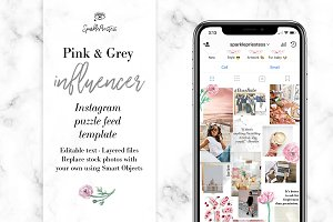 Influencer Instagram Puzzle Template