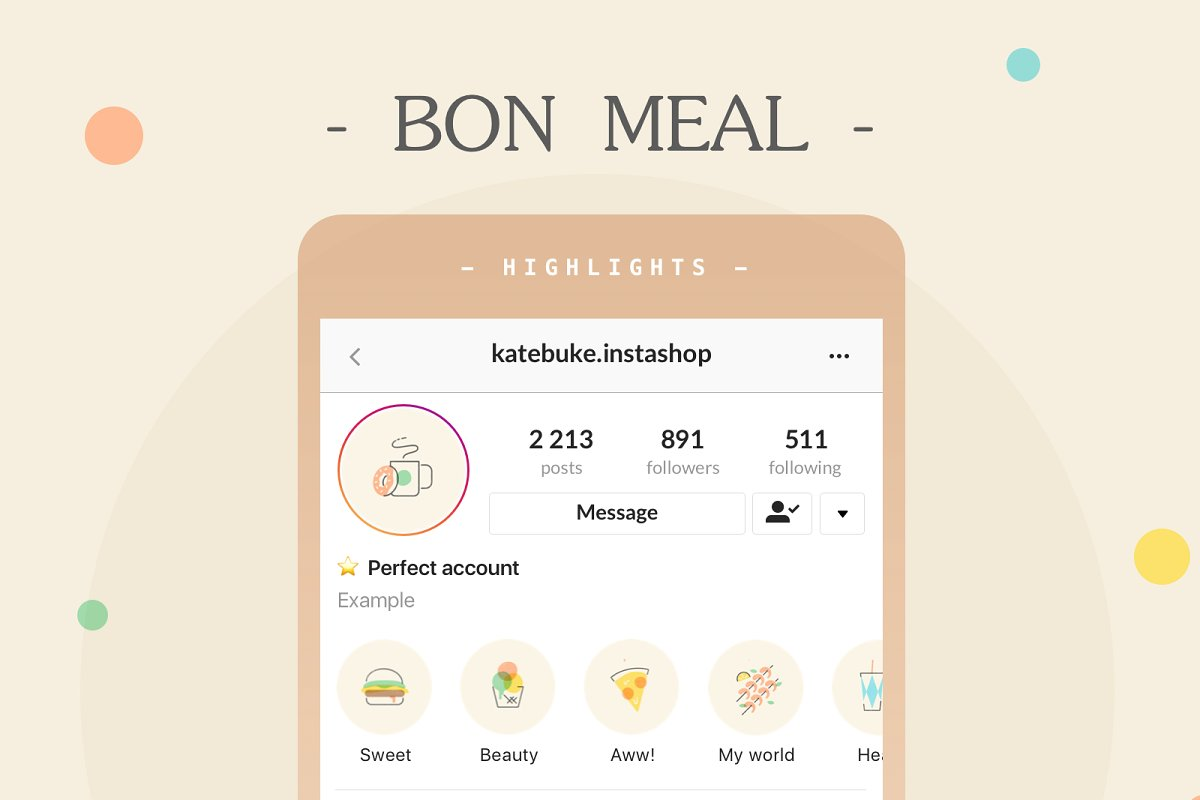 12 Instagram Food Icons Highlights!