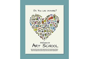 Banner for art school for your
