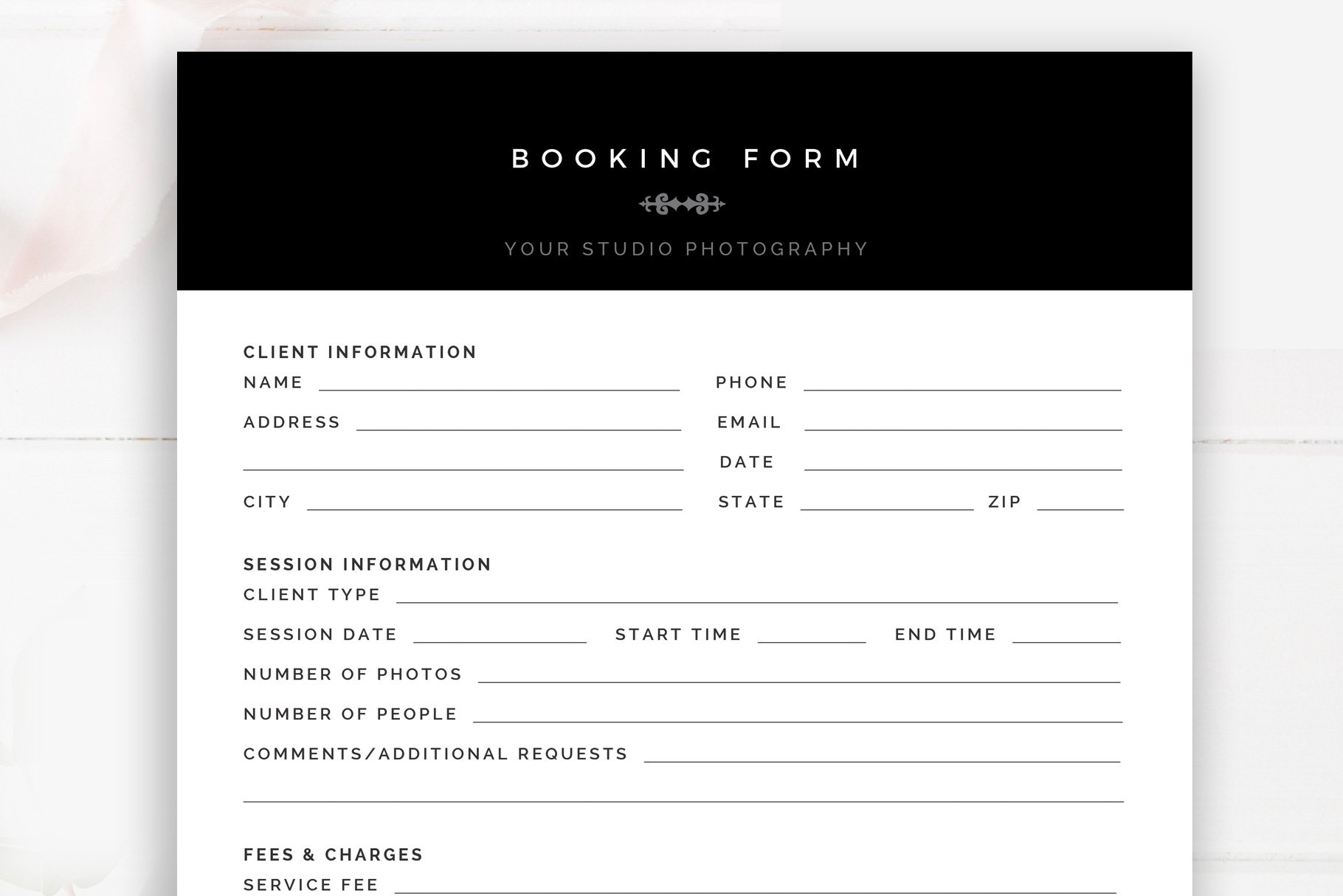 Customer Form Template Word from images.creativemarket.com