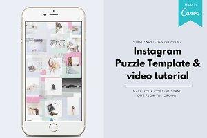 Instagram Puzzle Template + video