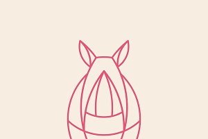 Linear rhino geometrical animal