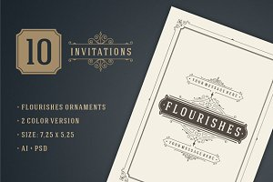 10 Vintage invitations volume 5