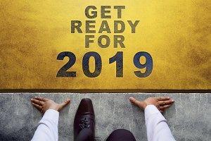 2019 Year Concept. Start Line