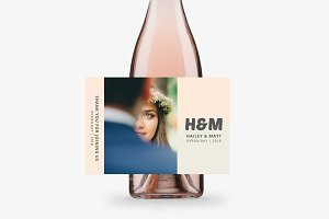 Hailey and Matt Bottle Labels