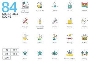 84 Marijuana Icons