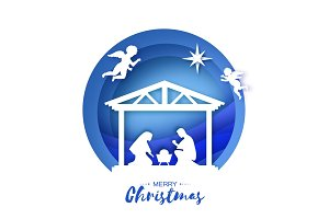 Birth of Christ. Baby Jesus in the