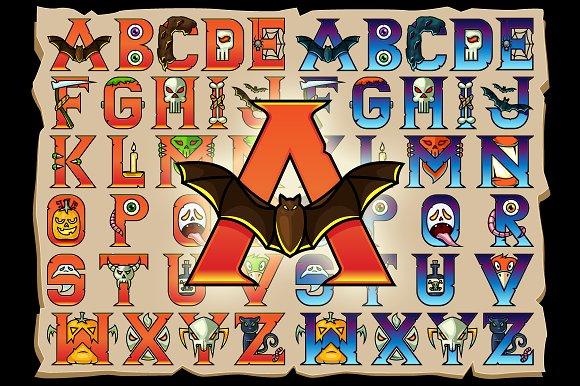 Halloween Alphabet Vector Letters ~ Illustrations ~ Creative Market