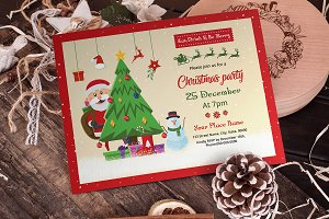 Christmas Party Invitation V899