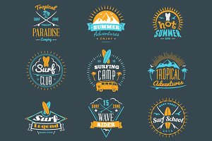 Summer Holiday Badges
