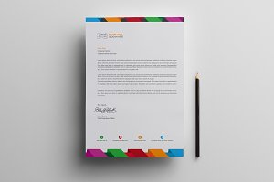 Multicolored Letterhead
