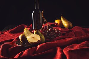 still life with different fruits and