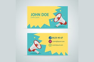 Vector megaphone business card
